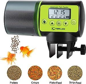Torlam Auto Fish Feeder, Moisture-Proof Electric Auto Fish Feeder,Aquarium Tank Timer Feeder Vacation &Weekend 2 Fish Food Dispenser