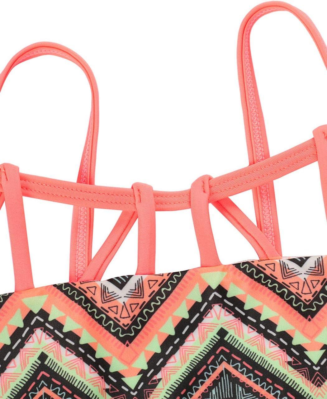 iDrawl Bikini Set M/ädchen Tankini Hell Farbe Badeanzug Sommer Badebekleidung