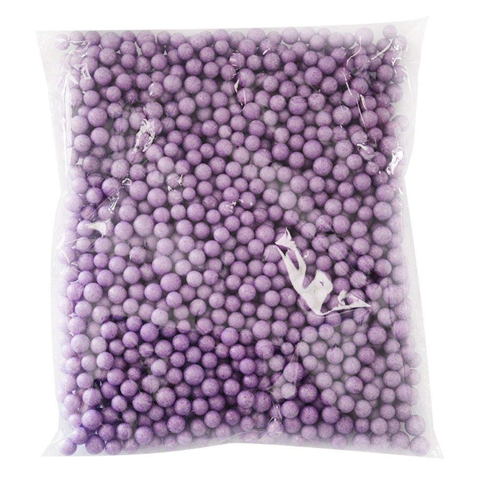 Westeng 1400PCS Slime Foam Beads Craft Foam balls 0.27–0,9cm palline decorative Styrofoam Foam Arts DIY Supplies for Homemade Slime, bambino, artigianato, decorazione di nozze viola 1pezzi