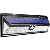 Mpow 54 LED Solarleuchte mit Bewegungsmelder Außen Wasserdichte Solarbetriebene Lampe mit 120° Weitwinkel Solarlampe für Außen Solarlicht für Garten, Terrasse, Auffahrt, Pfad, Hof, Balkon