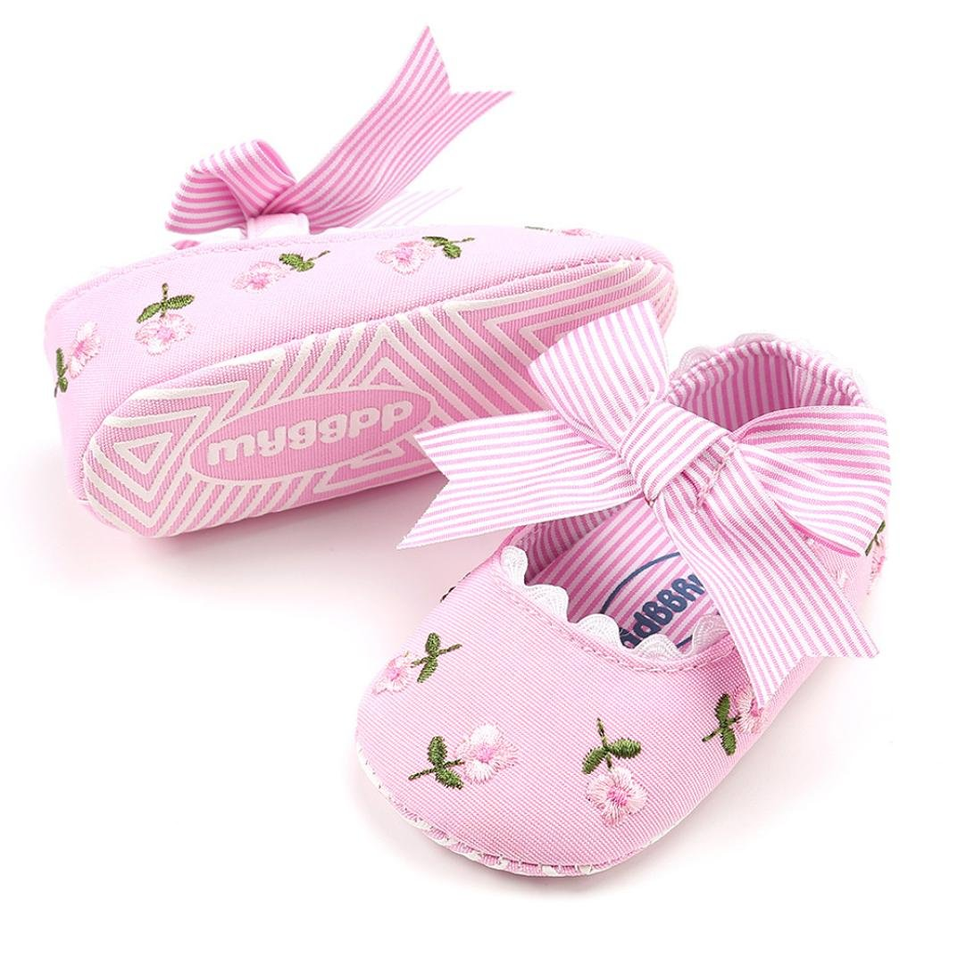 XEDUO Toddler Baby Girl Embroidery Flower Canvas Shoes First Walkers Crib Shoes
