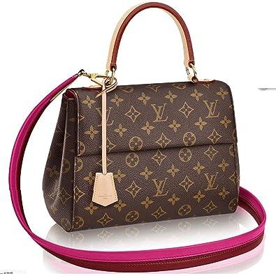 8eb60c3aa56e Image Unavailable. Image not available for. Color  Louis Vuitton Monogram  Canvas Cluny BB Top Handles Handbag ...