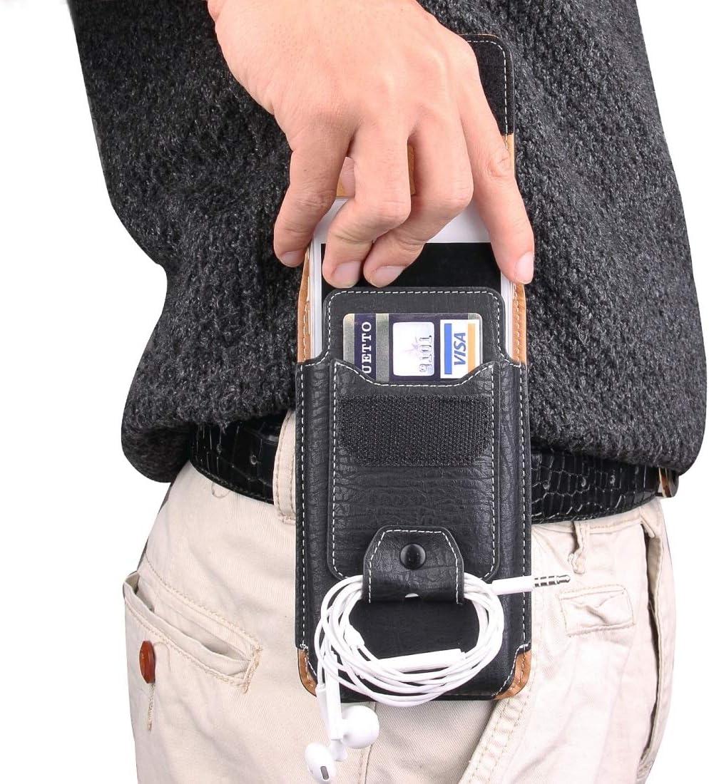Ultra Slim Case For iPhone 8 Plus & 7 Plus & 6s Plus & 6 Plus Vertical Flip Retro Elephant Texture Leather Case / Waist Bag with Card Slots & Back Splint & Buckle & Earphone Hole Phone Back Cover
