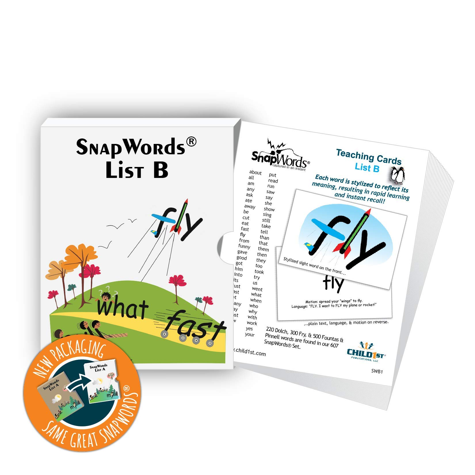 SnapWords List B Teaching Cards - Sight Words by Child1st Publications, LLC