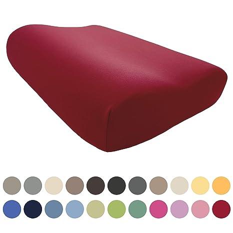 EddaLux - Funda para Almohada Tempur Original S/M/L/XL, Almohada Cervical, 50 x 31 cm, 50 x 30 cm, 100% algodón, en Muchos Colores, Rojo carmín, 50 x ...