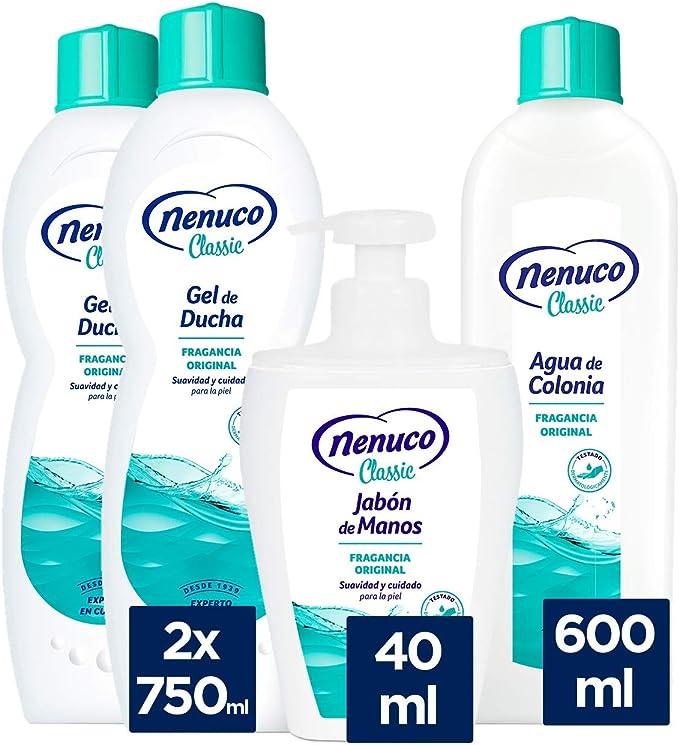 Nenuco Pack Cuidado Classic con 2 geles de ducha, 1 colonia y 1 jabón de manos: Amazon.es: Belleza