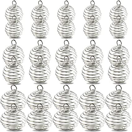 10 Antique Silver Plated Christmas Tree Charm Beads 25MM
