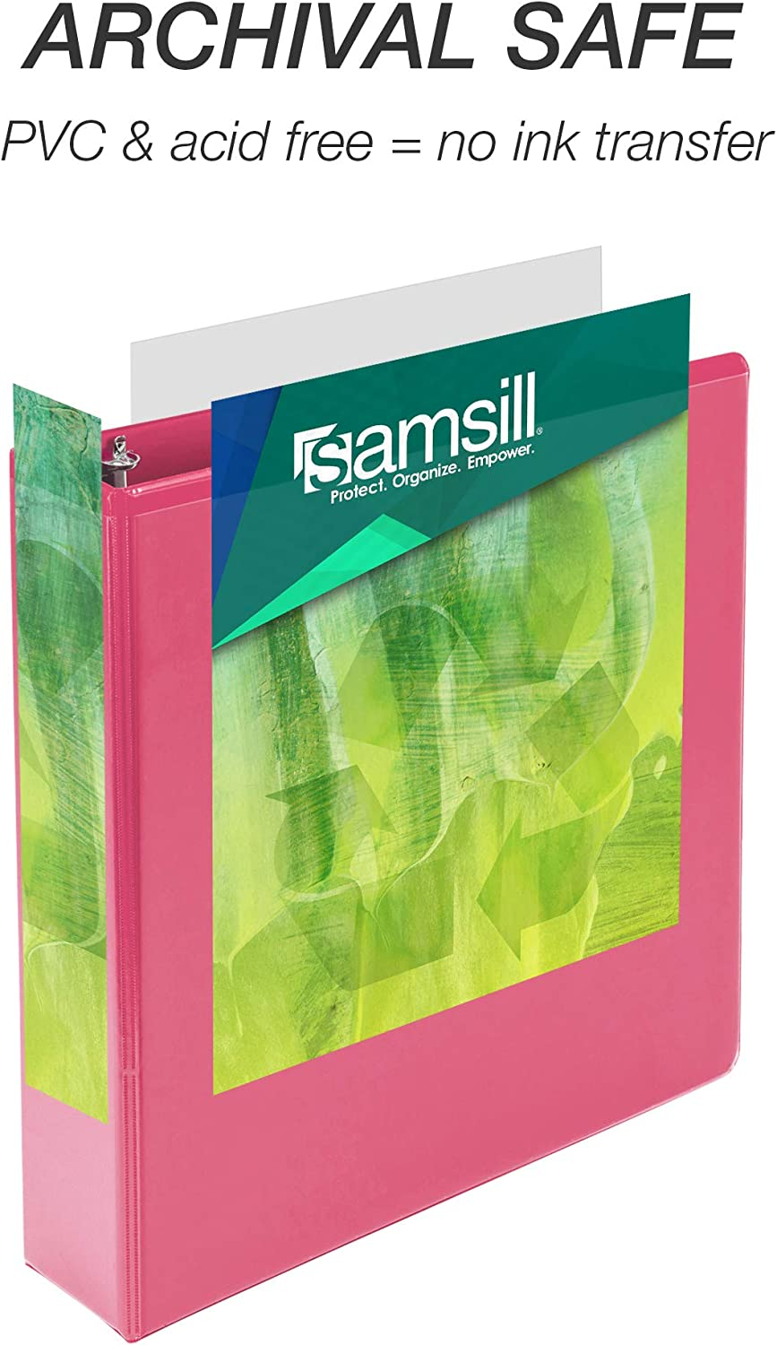 Samsill Earth's Choice Biobased Durable 3 Ring Binders, Fashion Clear View 2 Inch Binders, Up to 25% Plant Based Plastic, Assorted 4 Pack (MP48669) : Office Products