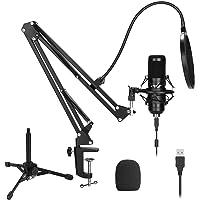 Kit de micrófono USB 192KHZ / 24BIT Plug & Play AU-A04 Computadora USB Cardioide Mic Podcast Micrófono de condensador…