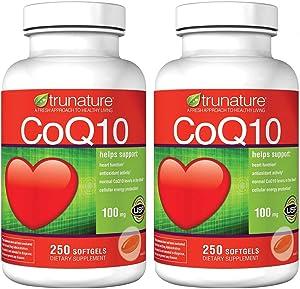 TruNature Coenzyme CoQ10 100 mg 2-Pack (250 Softgels Each)