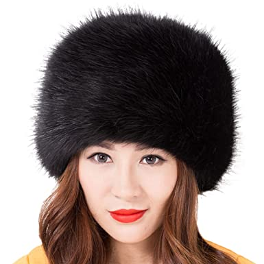40f695a1 Image Unavailable. Image not available for. Colour: SwirlColor Russian  Style Faux Fur Winter Cap Warm Hat For Women ...