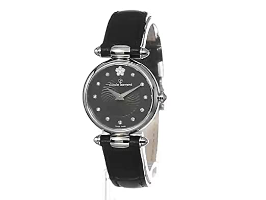 484746b8e336 Amazon.com  Claude Bernard Women s 20501 3 NPN2 Dress Code Analog Display  Swiss Quartz Black Watch  Watches