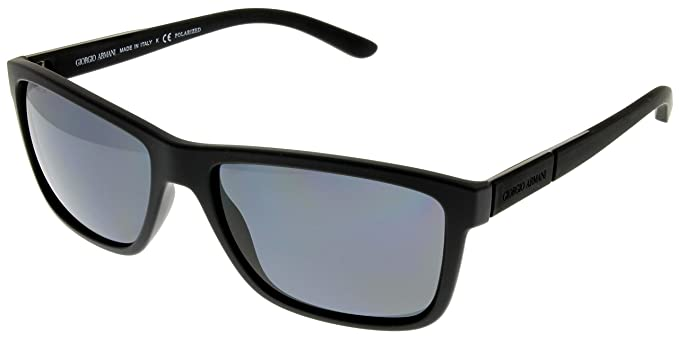 giorgio armani sunglasses men black polarized wayfarer