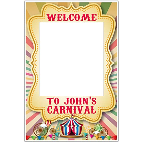 Amazon.com: Colors Rays Carnival Circus Selfie Frame Photo Booth ...