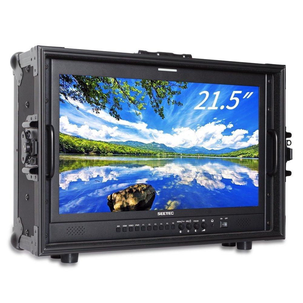 SEETEC P215-9HSD-CO 21.5インチフルHD 1920x1080キャリーオンブロードキャストディレクターモニター、3G-SDI HDMI AV YPbPrプロポータブルモニタースーツケース【日本語設定&販売後のサポート】 B079DKHKZ6  4KP215-9HSD-CO
