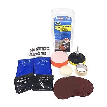 ATG Set de pulido de faros, elimina rayas y arañazos de los faros de plástico- 16 piezas. Set de reparación para faros: Amazon.es: Electrónica