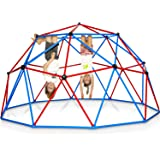 Play Wild Kids Climbing Dome Jungle Gym - 10 ft Outdoor Geodesic Dome Climber for Kids, Supports 750lbs, Extra Rust Protectio