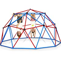Play Wild Kids Climbing Dome Jungle Gym - 10 ft Outdoor Geodesic Dome Climber for Kids, Supports 750lbs, Extra Rust…