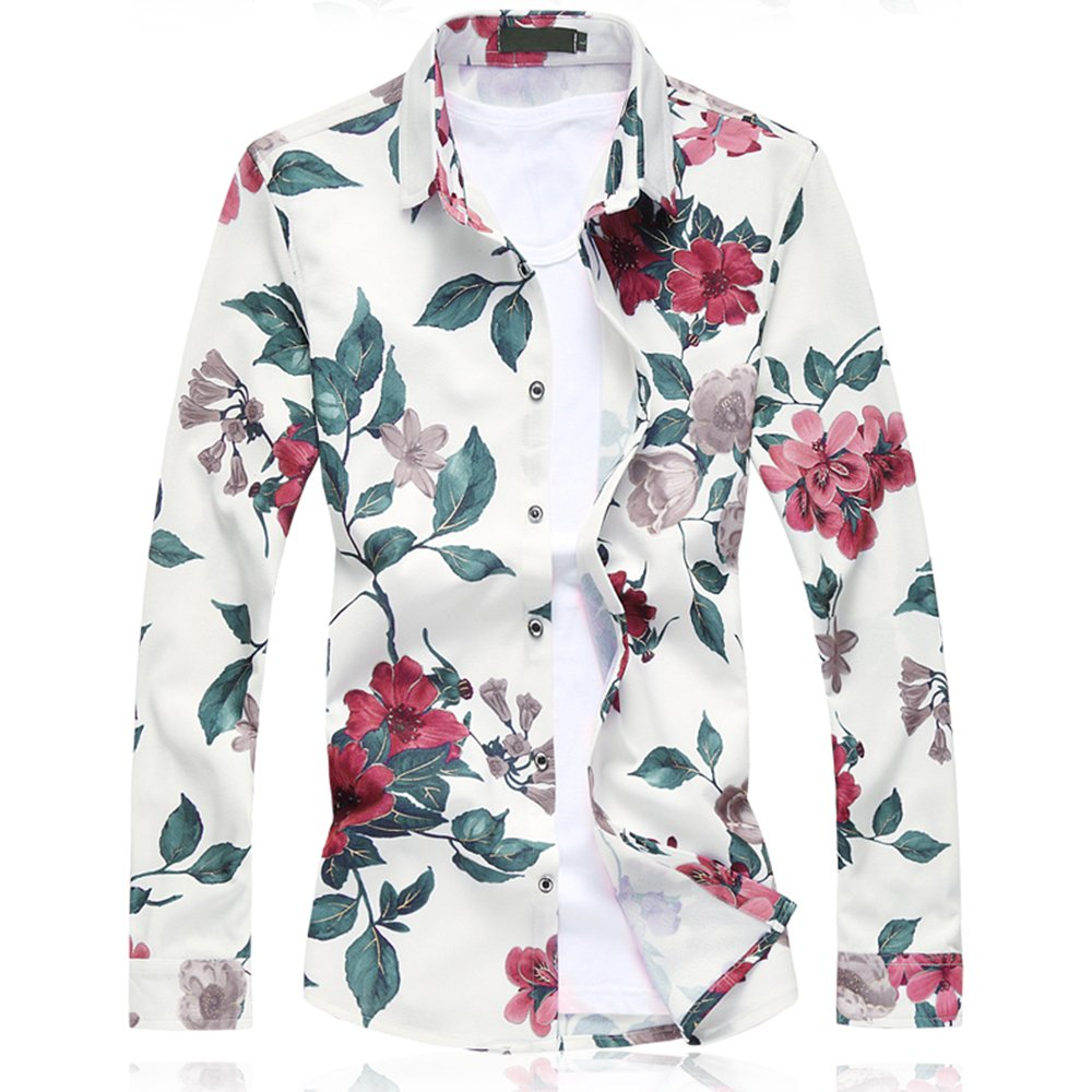 UNINUKOO Mens Button Down Casual Shirt for Spring Fall