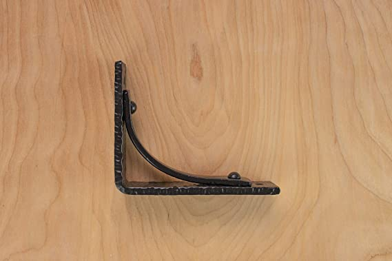 """8/"""" PAIR OF SPEAR LEAF cast iron rustic industrial shelf support wall brackets"""
