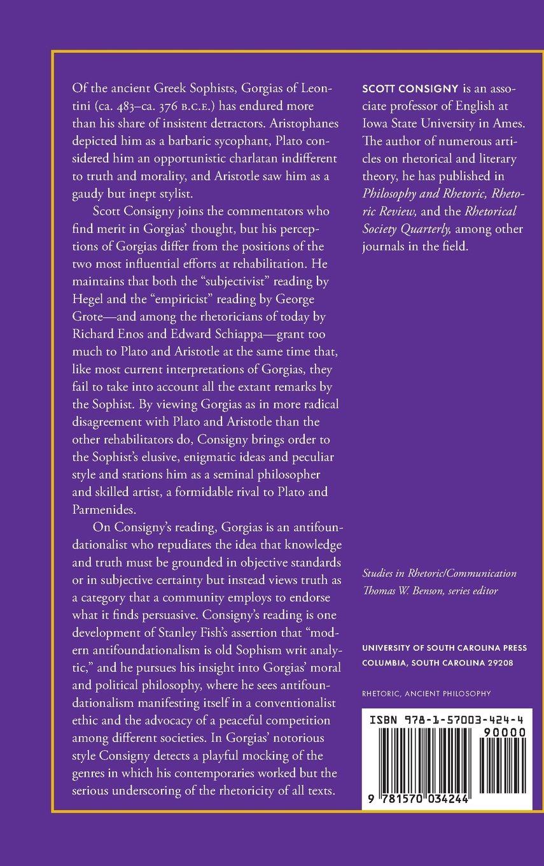 Gorgias, Sophist and Artist: Scott Consigny: 9781570034244: Amazon.com: Books