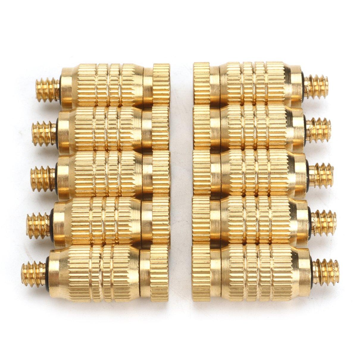10Pcs 4mm Male Threaded Brass Misting Fogging Nozzle Spray Sprinkler Head Irrigation Cooling by Ologymart (Image #2)