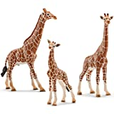 Schleich Family of giraffes - Bull, cow and baby Set with 3 pieces 14749 14750 14751