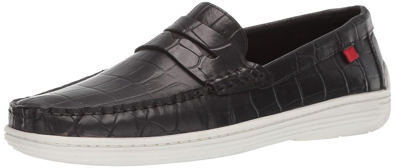 Black Crocodile Marc Joseph New York Men's Mens Genuine Leather Atlantic Loafer Driving Style Loafers