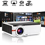 """200"""" LCD LED HD Android Projector Wifi 4200 Lumen WXGA 3D, Multimedia Home Cinema Theater Video Projector 1080P Support HDMI VGA USB SD AV TV for Movie TV Video Game Home Outdoor Entertainment"""