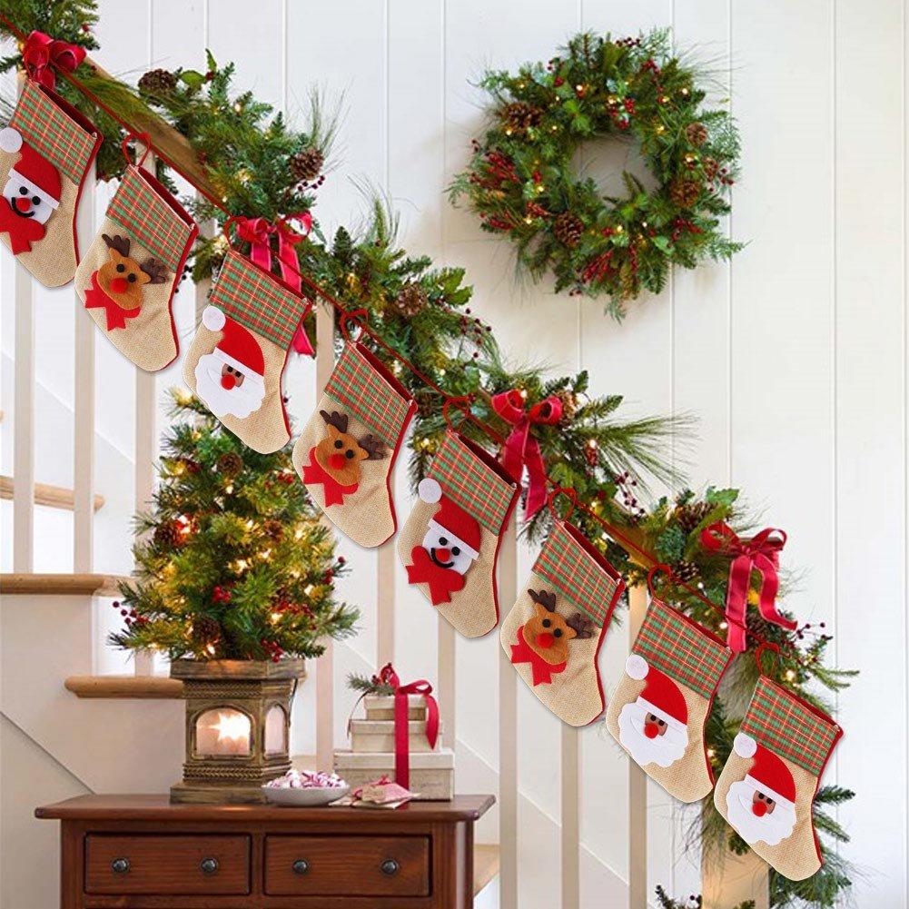 Aytai 12 × Cocina Traje Cubiertos Portavaso Bolsillos Cuchillos Bolsas 3 Estilo mini bolsillo de dulces de media navideña para Decoraciones Navideñas: ...