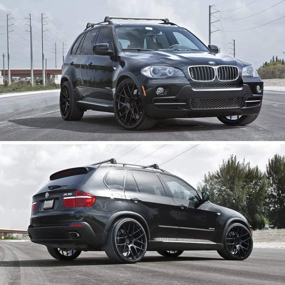 For 07-13 BMW X5 E70 20//21 Wheel Black Arch Extension Fender Flare Protector