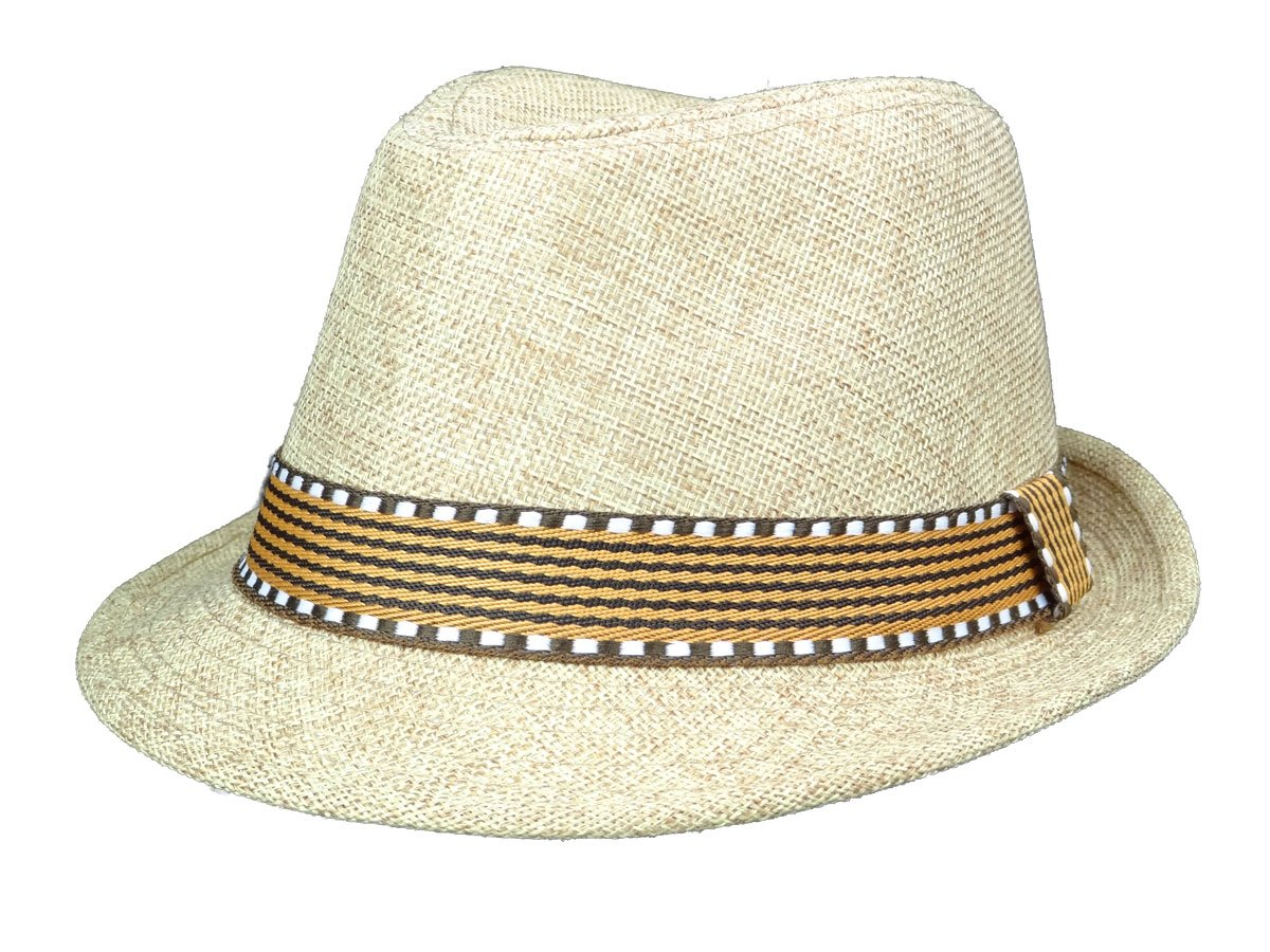 Subtle Addition Kids Fedora/Trilby Hats (Brown and Brown)