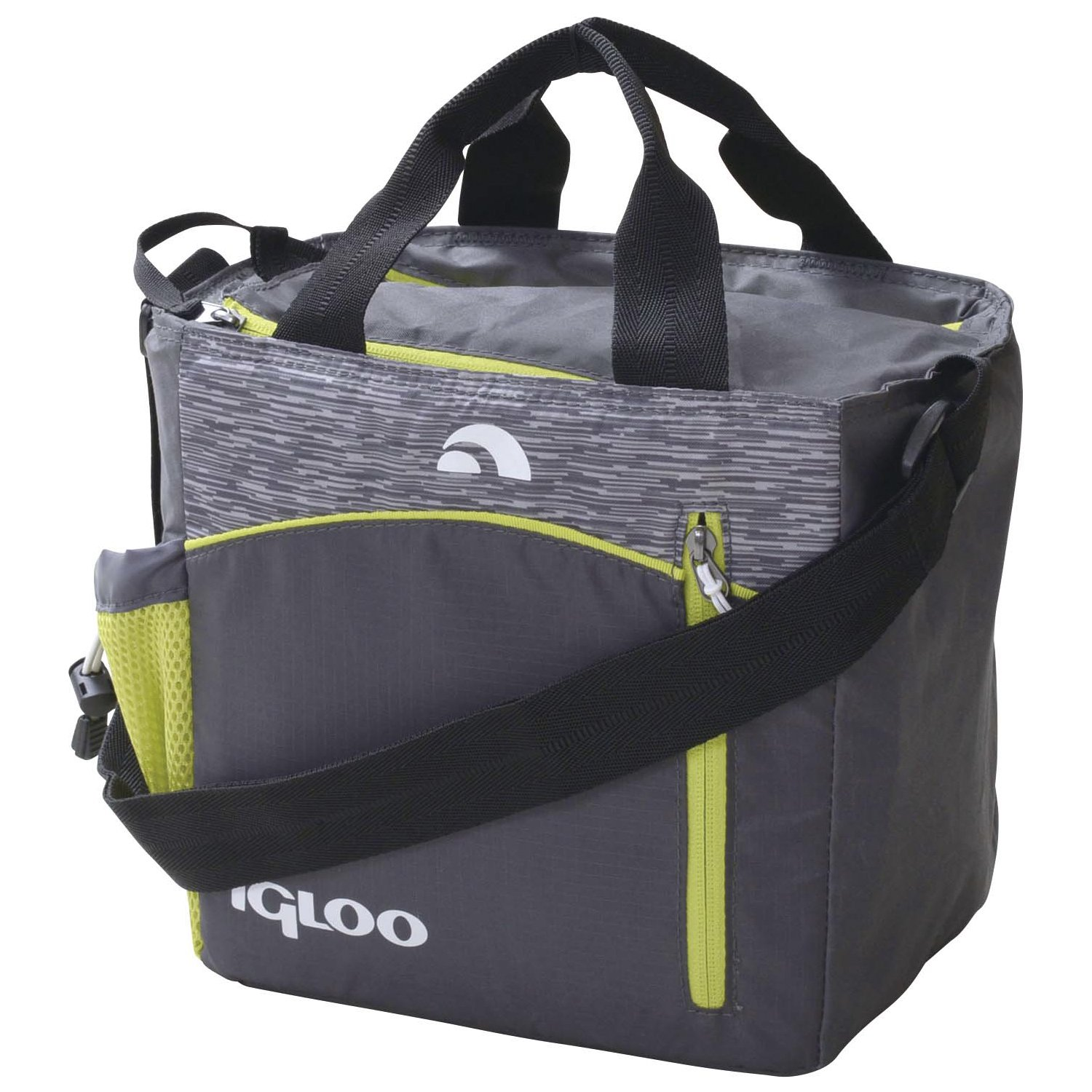 Igloo 00059956 Stowe Mini City 9 Insulated Soft Cooler (9 Cans), Grau/Lime by Igloo