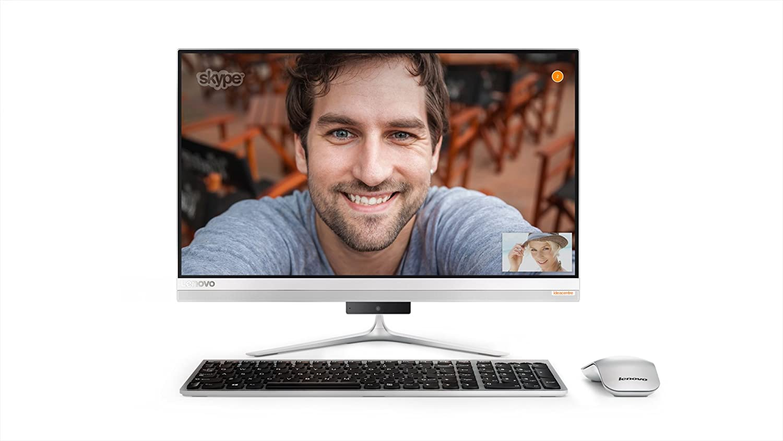 """Lenovo Ideacentre AIO 510s 23"""" All-in-One Desktop (Intel Core i7-6500U, 8GB, 1TB HDD, Windows 10) F0C30013US"""