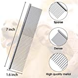 Petsvv 4 Pack Pet Grooming Combs, Stainless Steel