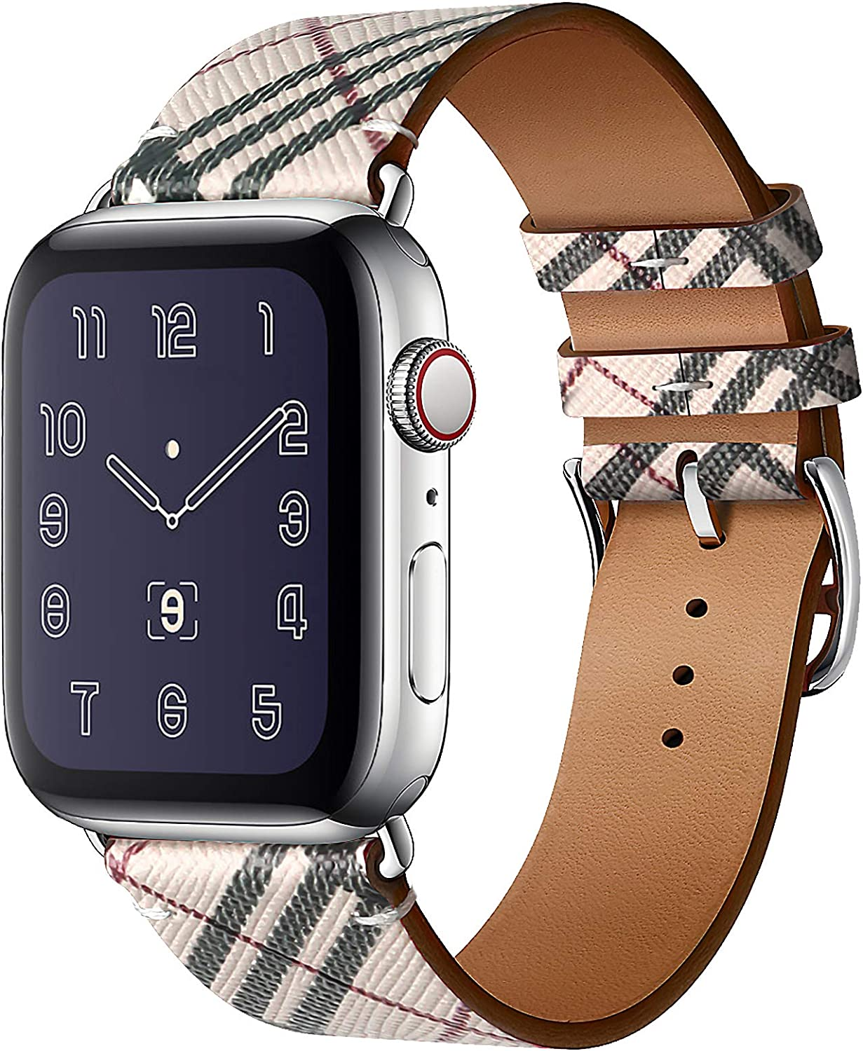 Panrock Stretchy Watch Band Compatible with Apple Watch 38mm 40mm 42mm 44mm, Sport Elastic Adjustable Wristband for Women Men iWatch Series 6/5/4 3/2/1/SE