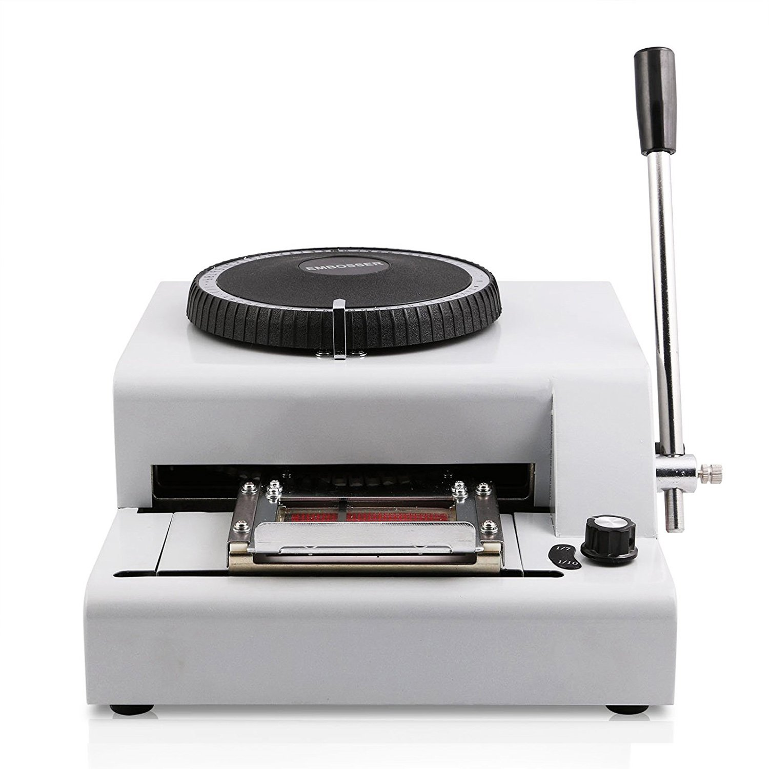 SHZOND Embossing Machine 72 Characters Card Embosser Printer Gift Card Credit ID PVC Card Embosser Stamping Machine Manual Embosser Machine