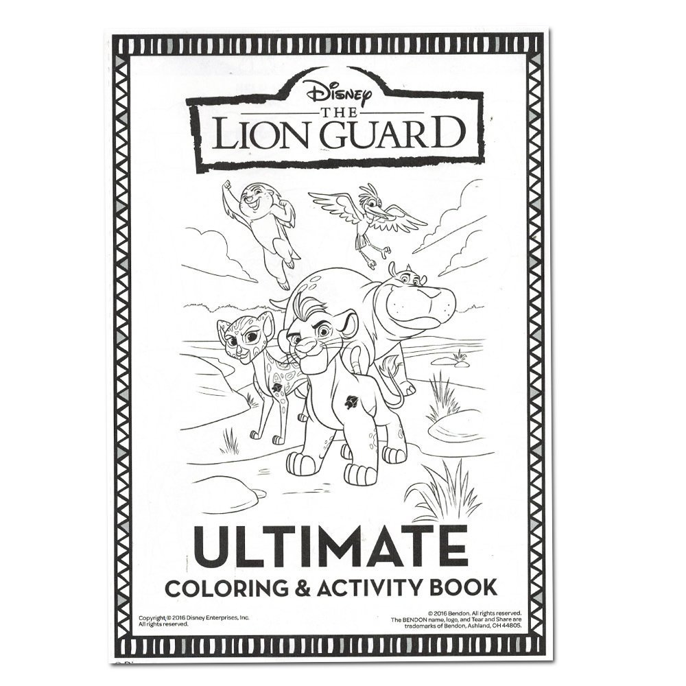 Amazon Lion Guard Coloring And Activity Book With 2 Poster Stickers