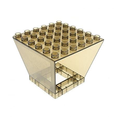 1 X Lego Duplo Fenster Transparent Schwarz Braun Tower Zentrale