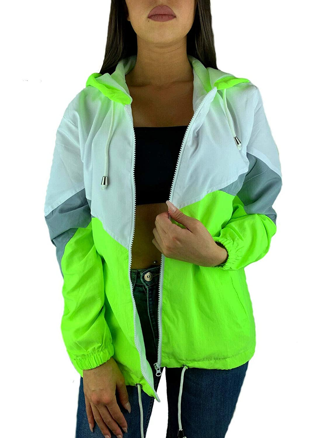 Recycling Jacke in Color Block