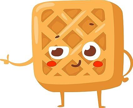 Wafle Cartoon   www.imagenesmy.com Cartoon Waffle With Face