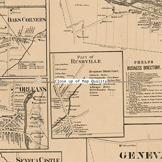 Amazon.com: 1859 Map of Ontario County, New York - Size ... on
