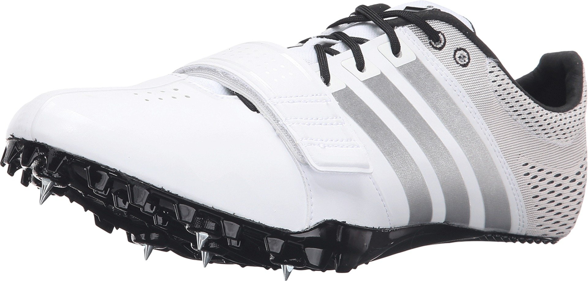 adidas Originals Adizero Accelerator Running Shoe, White/Silver/Black, 11.5 M US