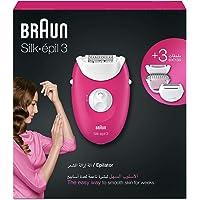 Braun Silk-épil 3 3-273 Epilator Raspberry Pink with 3 Extras