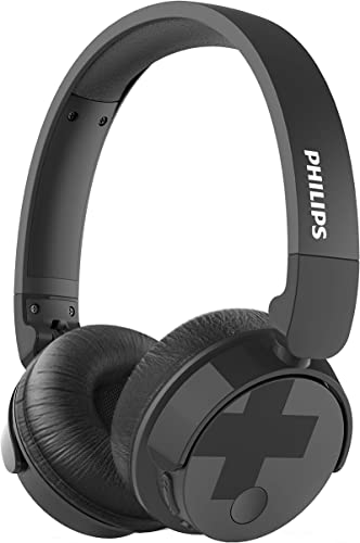 Philips Bass BH305BK Active Noise Cancelling Wireless Headphones, Up to 18 Hours of Playtime