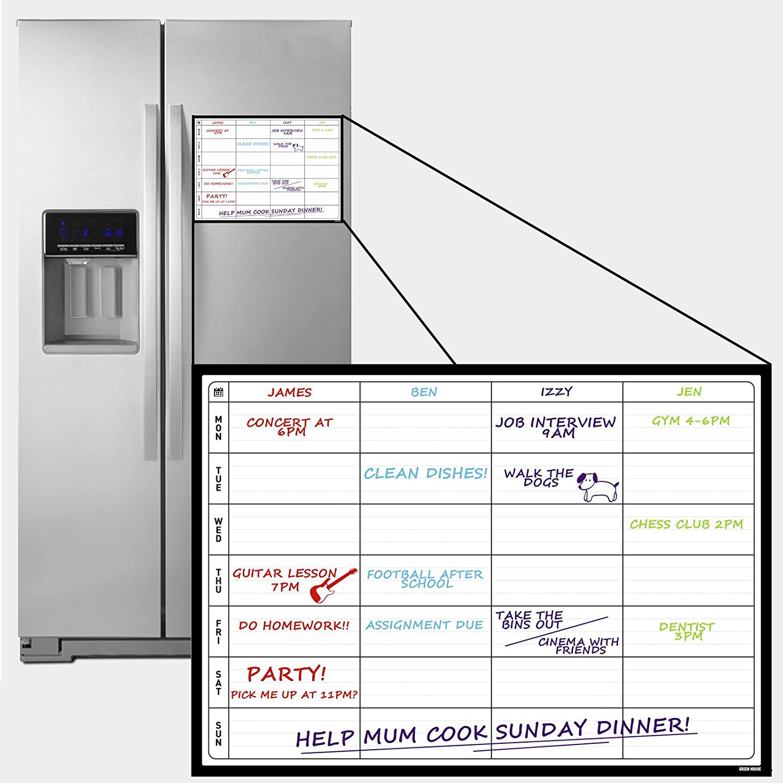 a3 magnetic dry erase fridge planner calendar reusable monthly