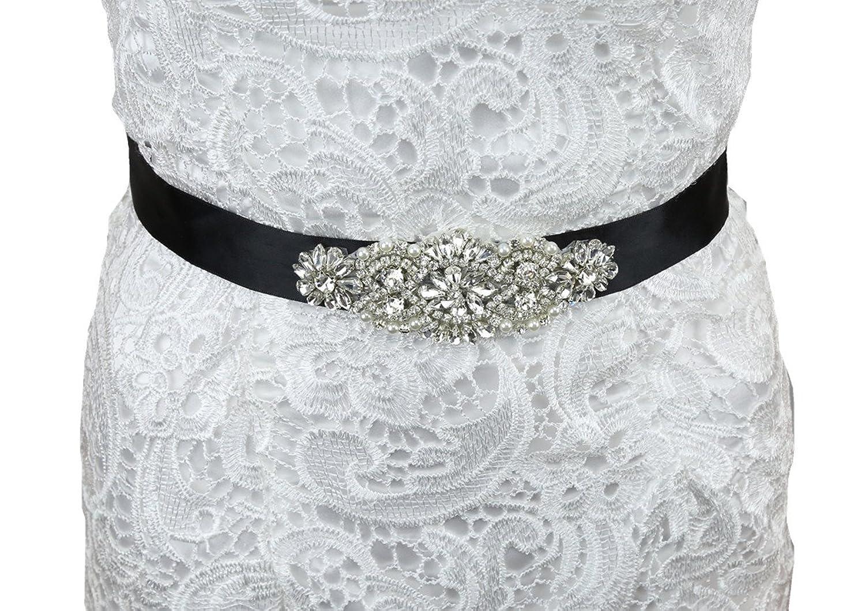 SoarDream Rhinestone Bridal Belts, Wedding Belt, Bridal Dress Sash.