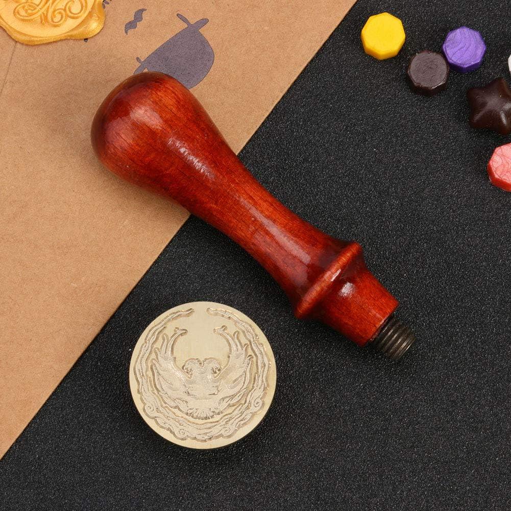 MD15 Antique Anime Seal Stamp DIY Wedding Invitation Retro Sealing Wax