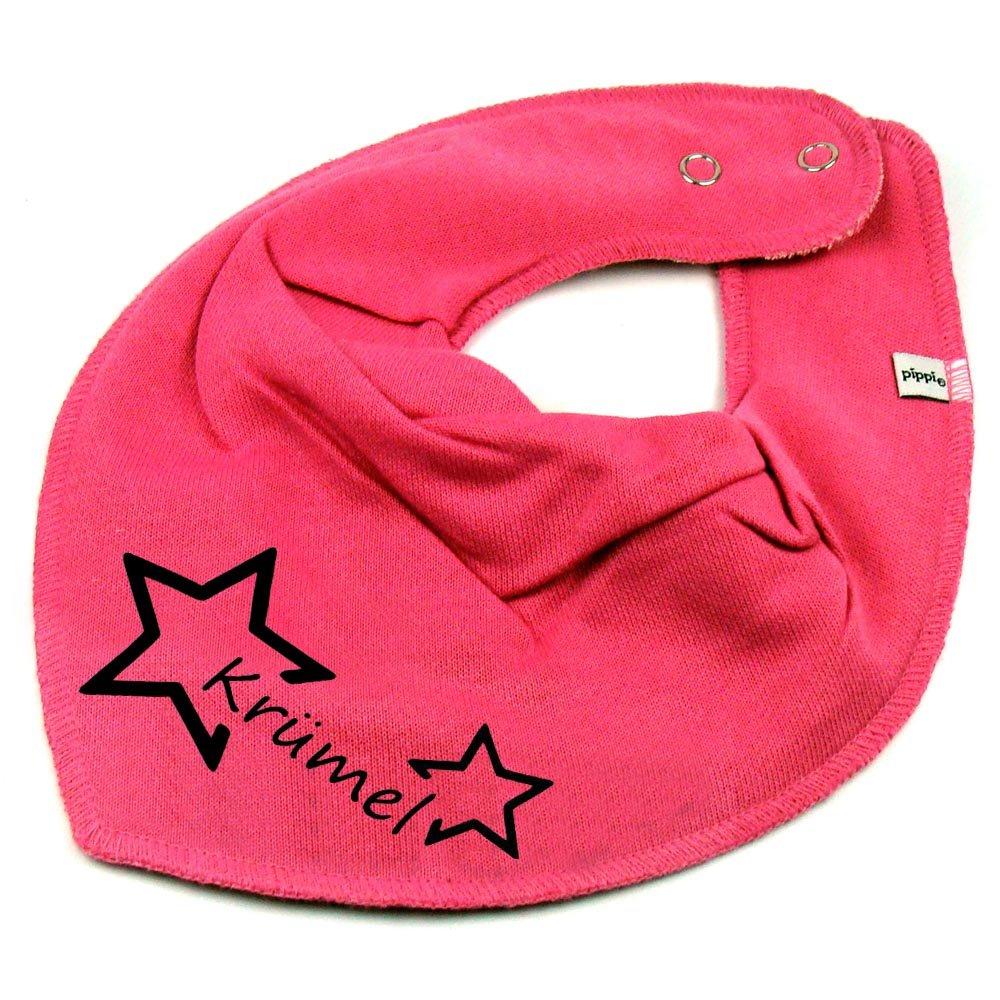 HALSTUCH Stern mit Namen oder Text personalisiert dunkelblau für Baby oder Kind Elefantasie