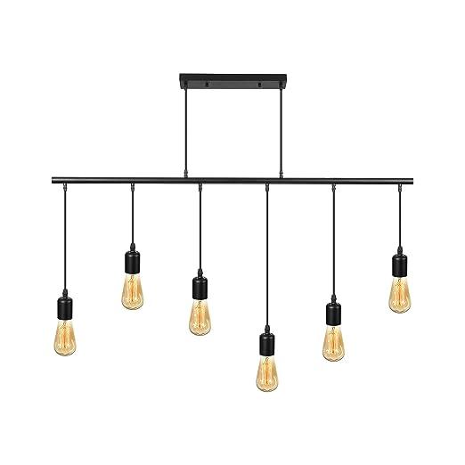 Amazon.com: Ladiqi - Lámpara de techo con 6 luces para ...